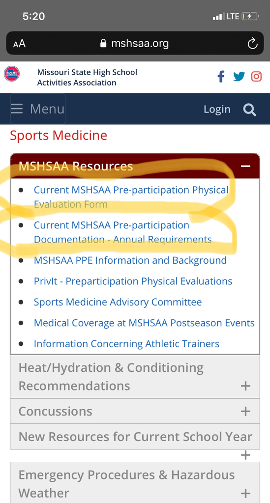 MSHSAA Physical