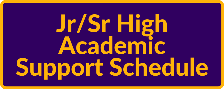 Jr/Sr High Academic Support Schedule